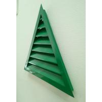 Треугольная решетка НТ3, размер строительного проема L=500 x H=500, мм., зелпеный