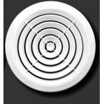 Решетка круглая 195КС, белая, с концентрич.жалюзи, D195