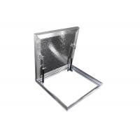 Напольный люк 80*80 алюминиевый, крышка заполняемая, 2 амортизатора