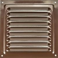 Решетка стальная 1717 РМ, коричневая, вентиляционная с покрытием полимерной эмалью, с сеткой 175х175
