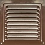 Решетка 2525 РМ, коричневая, металлическая 250х250