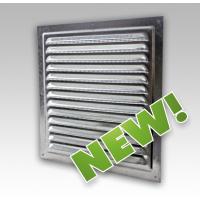Решетка стальная 1515МЦ, вентиляционная оцинкованная с сеткой 150х150