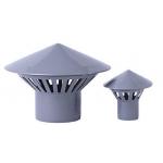 Зонт Д=50 вентиляционный РР, канализационный, серый