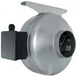 Вентилятор канальный MARS GDF 125 (D=125, V=306m3/h), центробежный приточно-вытяжной, стальной