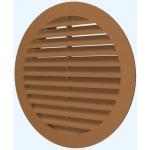 Решетка круглая 10РКН терракот., наружная вентиляционная D100, ASA-пластик