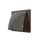 Выход стенной 1919К15.16ФВ, коричневый, вытяжной с обр.клапаном 190х190 с фланцем D=150/160,  ASA