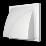 Выход стенной 1919К15.16ФВ, белый, вытяжной с обр.клапаном 190х190 с фланцем D=150/160,  ASA