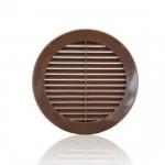 Решетка круглая 12РКН, ASA, коричневая, Д=125мм