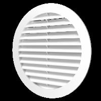 Решетка круглая 16РКН, наружная вентиляционная D200 с фланцем D160, ASA-пластик