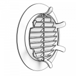 Решетка круглая 10RKL (ножки), D100мм