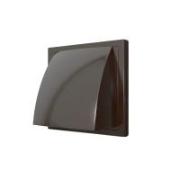 Выход стенной 1515К12,5ФВ, коричневый, вытяжной с обр.клапаном 150х150 с фланцем D125,  ASA-пластик