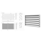 Решетка АРН вентиляционная, накладная, размер проема 600(ширина) * 500 (высота) RAL9016