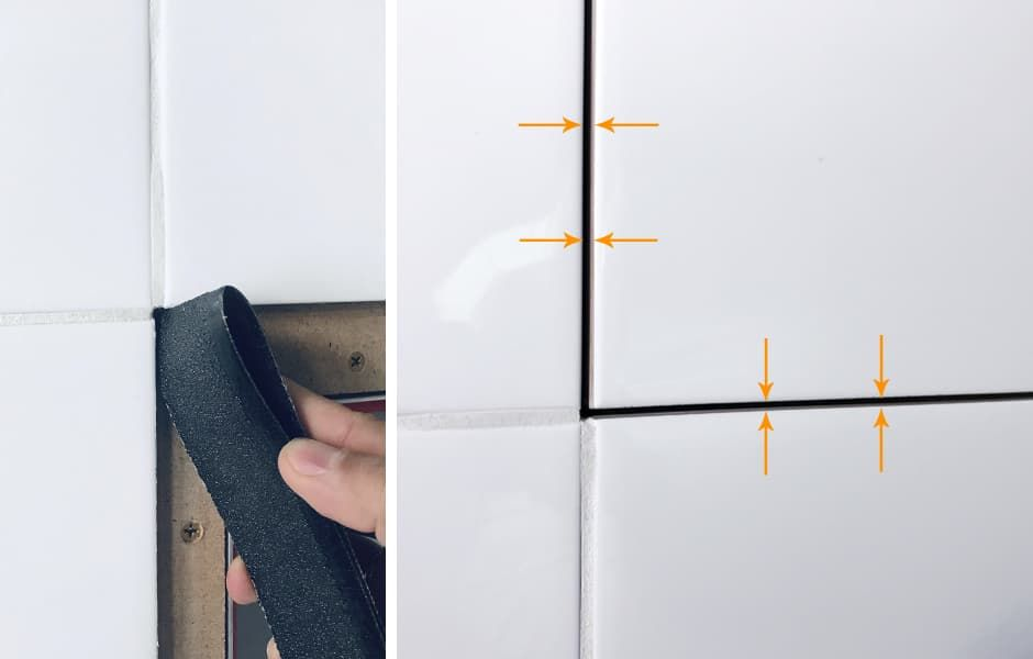 Обрабатываем торцы плитки